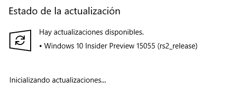 Windows 10 Creators Update - Build 15055