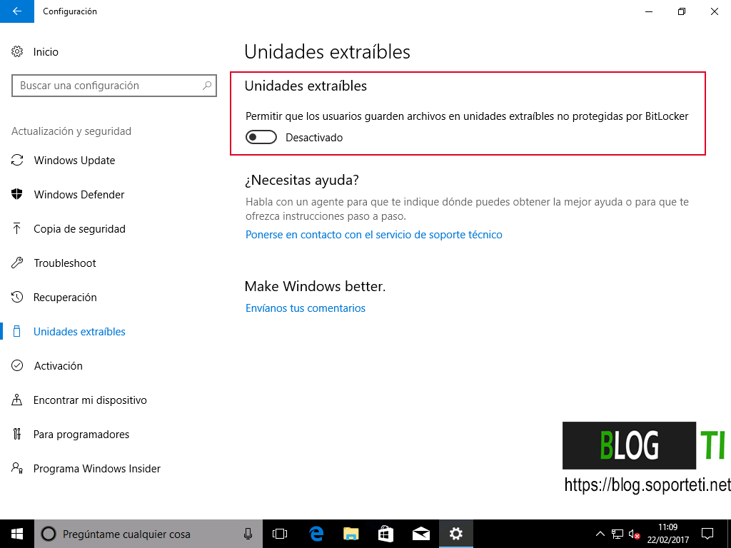 Bitlocker - Windows 10 Creators Update