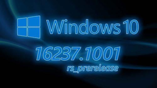 Windows 10 – Update 16237.1001 – Análisis en Español