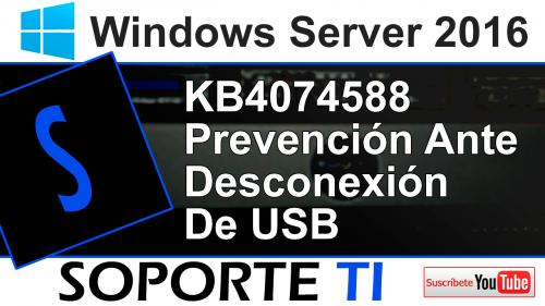KB4074588 – Sin teclado ni ratón – Como prevenirse